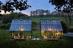 GREENHOUSE: There are two greenhouses at the farm and here family also decorated with the old wrought-iron furniture.