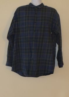 Men's Patagonia Button Up Down Shirt Plaid Organic Cotton Purple Size XL EUC!!  $24.99