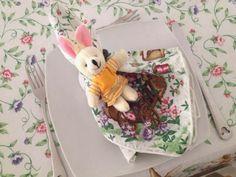 Decoração de mesa para a páscoa!