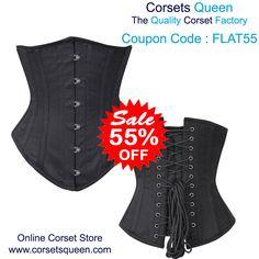 Corset Sale - Flat 55% Off - Code: FLAT55, Nada Corset Waist Shaper in 100% Cotton