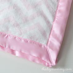 Πώς να ράψετε το πιο μαλακό μωρό κουβέρτα DIY με δύο στρώματα υφάσματος minky και σατέν δεσίματος