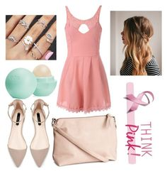 """#ThinkPink!"" by annnaaaritaa18 on Polyvore featuring H&M and Eos"