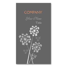 Elegant Modern Unique Flower - Florist Business Cards