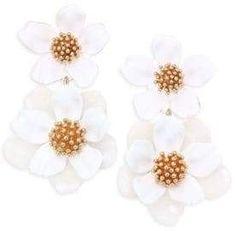Kate Spade New York - Flower Drop Earrings Pearl Drop Earrings, Dangle Earrings, Bougainvillea Colors, New York Flower, Kate Spade Earrings, Drops Design, Rag And Bone, Mosaic