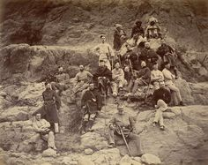 British team at the site of the Battle of Ali Masjid 1878.