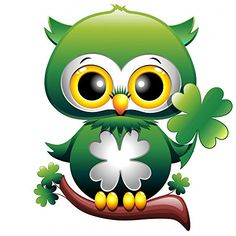 Baby Owl St Patrick Owl Cartoon Puppy with Quadrifoglio Wall Decal Sticker - 12 Inches H x 12 Inches W - Peel and Stick Removable Graphic Wallmonkeys Wall Decals http://www.amazon.com/dp/B00PHDNSEU/ref=cm_sw_r_pi_dp_umefvb0D8M245