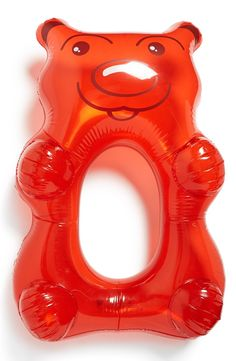 Shaped like a giant red gummy bear, this sugary treat lets you have your sweets and sun in them too.