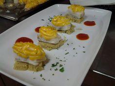 Bacalao con Humus. #Snacks #Tapas #Granada