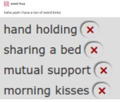 Haha yeah i have a ton of weird kinks hand holding (; sharing a bed mutual supportfí morning kisses - iFunny :) Infp, Aaliyah, I Love You, My Love, Let It Be, Ace Attorney, Morning Kisses, Morning Cuddles, Wholesome Memes