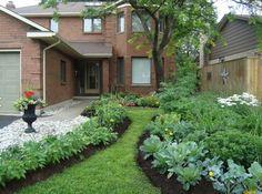 janes sculptural front yard vegetable garden