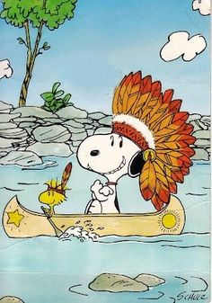 Chief Snoopy hanks you Woodstock for paddling our canoe so well! Woodstock Snoopy, Snoopy Love, Snoopy Images, Snoopy Pictures, Peanuts Cartoon, Peanuts Snoopy, Snoopy Cartoon, Peanuts Comics, Peanuts Thanksgiving