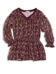 Splendid Toddler's & Little Girl's Floral-Print Smocked Dress