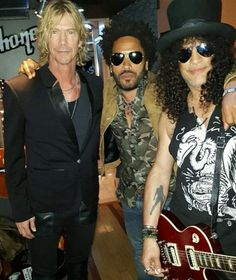 Duff McKagan, Lenny Kravitz & Slash-T mobile arena Las Vegas 2016