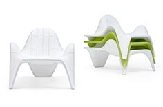 F3 Modular Stackable Garden Armchair  http://www.archiproducts.com/en/products/vondom/sectional-modular-garden-armchair-with-footstool-f3-modular-garden-armchair_89655    See also:  14 Multipurpose Modular Garden Furniture Pieces   http://vurni.com/multipurpose-modular-garden-furniture/