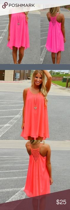 PRICE DROP Sexy Neon Pink Beach Dress The perfect casual summer beach dress. Boutique Dresses Mini