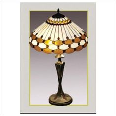 Tiffany Geometric Table Lamp Baymark