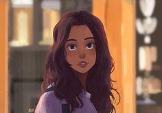 Laura Harrier / Fanart - (Spiderman Homecoming), Michel Mims on ArtStation at https://www.artstation.com/artwork/A589m