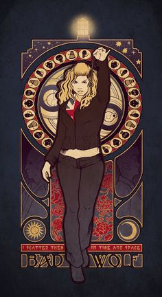 """""""Bad Wolf"""" by MeganLara on deviantArt.com. I love this artist. I love that there are artistic Whovians out there. :)"""