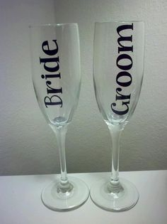 Personalized Bride & Groom Toasting Champagne by GaDawgsChick86, $24.00