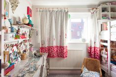 Frances & Dom's Handcrafted Home the curtains: embellish and personalize plain curtains with vibrant fabric