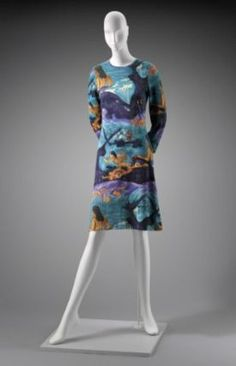 1970-75 Womans dress, Goldworm Knitwear Company from the Museum of Fine Arts, Boston
