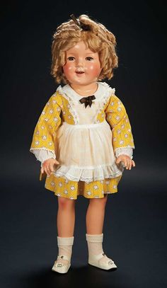 American Composition Doll of Shirley Temple by Ideal in Exclusive Costume $500+
