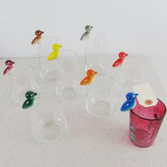 place card holders birds wedding party Mid Century by goseek
