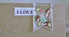 Pocket Banner Piece - LOVE IT! - i rock paper and scissors: {Home Sweet Home}