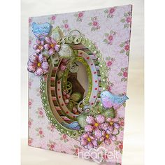 Birds and Florals #MiniAlbum w/ layered cards from #HeartfeltCreations