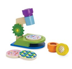 Houten microscoop | Manhattan Toy Learning Play Microscope: Toys & Games (Kaplan Early Learning Company)