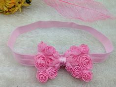 Baby Girl Toddler Headband Hair Bow by ShreddedWorld on Etsy