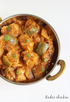 Kadai Chicken recipe. Delicious! Could use a little extra Indian flavour next time, but overall a great recipe and easy to follow.