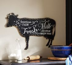 So perfect for my kitchen! Bistro Cow Sign #potterybarn