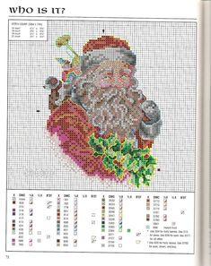 КЛАДОВАЯ РУКОДЕЛИЙ: Схемы вышивки Дед Мороза\Санта Клауса