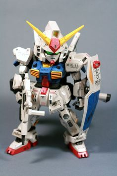 SD RX-178 Gundam Mk-II Papercraft by Nausica774 1