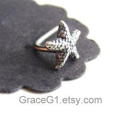 starfish cartilage earrings cartilage stud earrings by GraceG1, $30.50