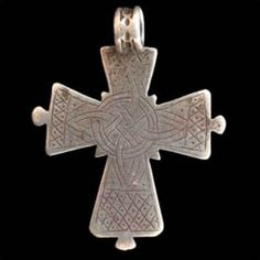Africa | Silver cross from Ethiopia