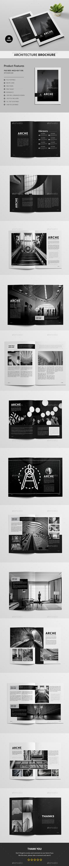 Architecture Brochure A4 — InDesign INDD #construction #cmyk • Download ➝ https://graphicriver.net/item/architecture-brochure-a4/20134022?ref=pxcr