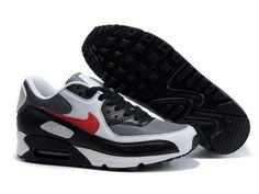 finest selection 2e412 3178f Nike Air Max 90 Grey White Black Red