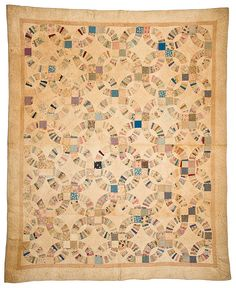 Vintage Antique Double Wedding Ring Quilt 77 X 88 Yellowstone Pinterest Rings And Antiques
