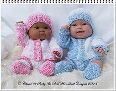 Dolman Cardi & Pants set 14 inch 'Lots to Love' Berenguer Dolls-berenguer, knitting pattern, lots to love, bathtime baby