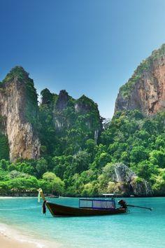 West Railay Beach, Thailand. THAILAND NEXT SPRING HOPEFULLY!!!! :)