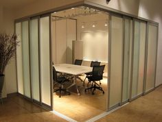 commercial sliding glass doors interior | Interiors with Glass Partitions | Sponsored by THE SLIDING DOOR ...