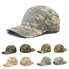 IPRee™ Camping Tactical Camouflage Sunhat Adjustable Travel Sunscreen Baseball Cap