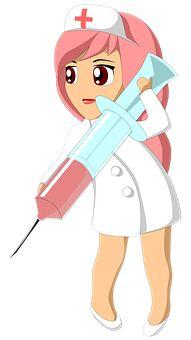 Zdravotná Sestra, Vstrekovanie Nurse Cartoon, Nurse Decals, Kids Reading Books, School Murals, Hello Nurse, Nurses Day, Alien Art, Medical Illustration, Flower Backgrounds