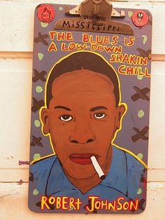Robert Johnson-Dan Dalton Art, Delta Blues, blues music art, blues folk art, outsider art, raw art, mississippi art , mississippi blues