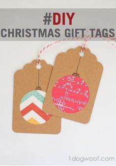 DIY Christmas Gift Tags Creative Gifts #creativegifts #diygifts
