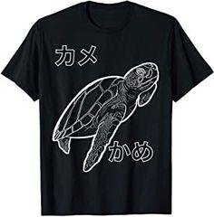 Sea Turtle Ocean Swimming Japanese T-Shirt Turtle, Swimming, Ocean, Japanese, Mens Tops, T Shirt, Swim, Supreme T Shirt, Turtles