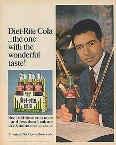 "paperink id: ads8013 Paul Horn JAZZ Musician 1967 AD Royal Crown Diet Cola This is an ORIGINAL PERIOD Magazine Advertisement measuring approximately 10.5"" x 13.25"". AD is in Very Good Condition edge t"