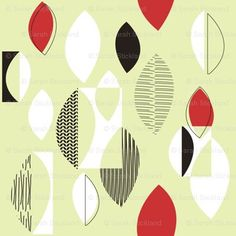 50's Atomic Pattern | 50's classic fabric design